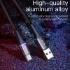 Baseus 3A Micro USB kábel RGB leddel - 200 cm hosszú, fekete színben