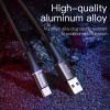 Baseus 3A Type-C USB kábel RGB leddel - 100 cm hosszú, fekete színben