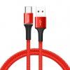 Baseus 3A Type-C USB kábel RGB leddel - 200 cm hosszú, piros színben