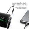 Baseus Type-c USB elosztó -> Type-c USB + 3.5 mm AUX - fekete színben