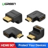Ugreen HDMI csatlakozó adapter - lefele néző toldat