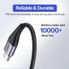 Ugreen Micro USB kábel mágneses csatolófejjel - 100 cm hosszú, fekete színben