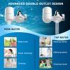 Augienb vízcsapra erősíthető kompakt vízszűrő, víztisztító - ajándék pót szűrőbetéttel