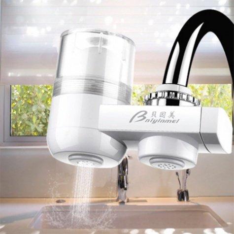 Bnlylnmel vízcsapra erősíthető kompakt vízszűrő, víztisztító - ajándék pót szűrőbetéttel